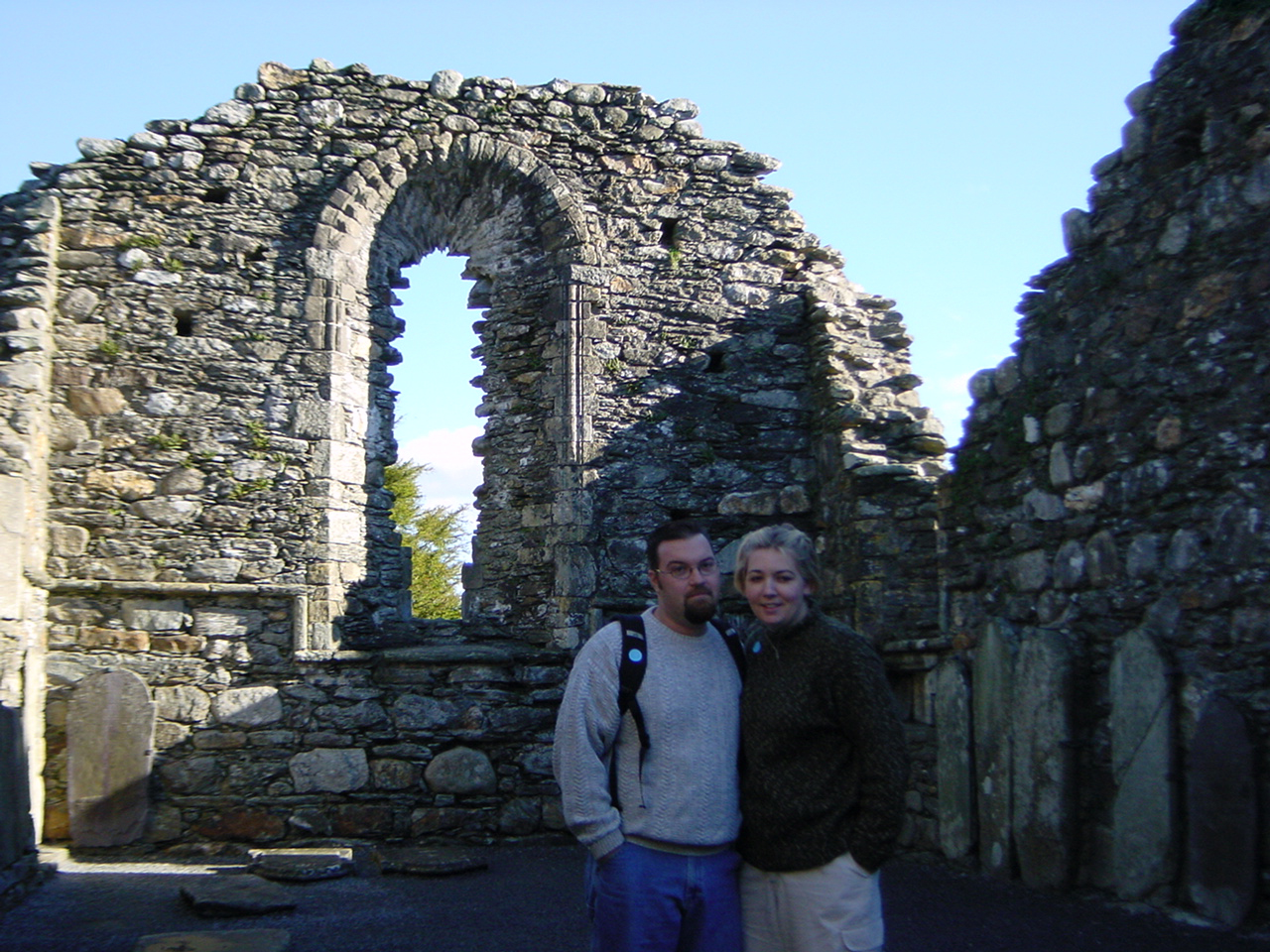 Allison and Drew in Glendalough