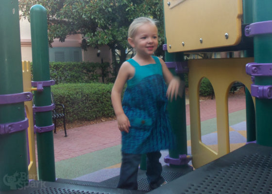 Playing at Port Orleans