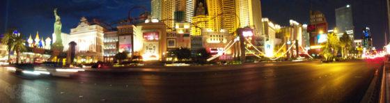 Panorama of New York New York during BlogWorld 2010 Vegas Photowalk