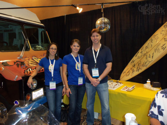 The Antonia's Nuts Team with the Celebrity Surfboard and Nut Truck