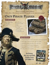 Pirate Oat Planks
