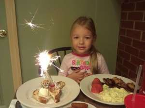 Birthday Breakfast Sparkler!