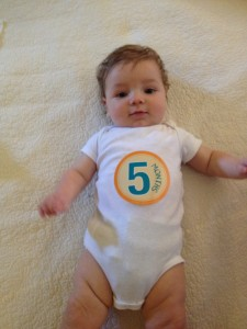 Andrew Turned 5 Months Today