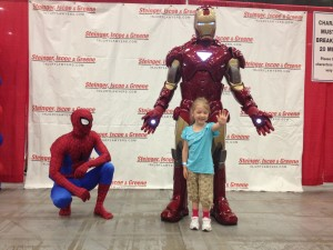 Meeting Iron Man and Spider-Man