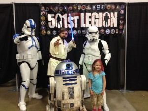 Eva with some of the 501st Legion