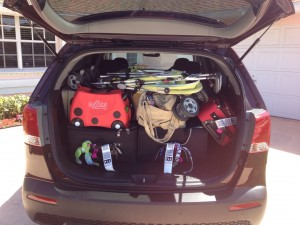 The Kia Sorento packed to the gills