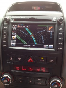 The Kia Sorento Navigation System