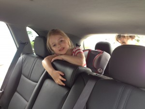 Eva loved having the third row of the Kia Sorento all to herself