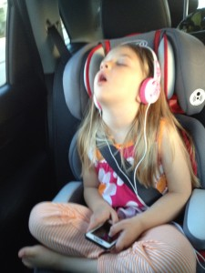 The Kia Sorento rode so smoothly that Eva passed right out.
