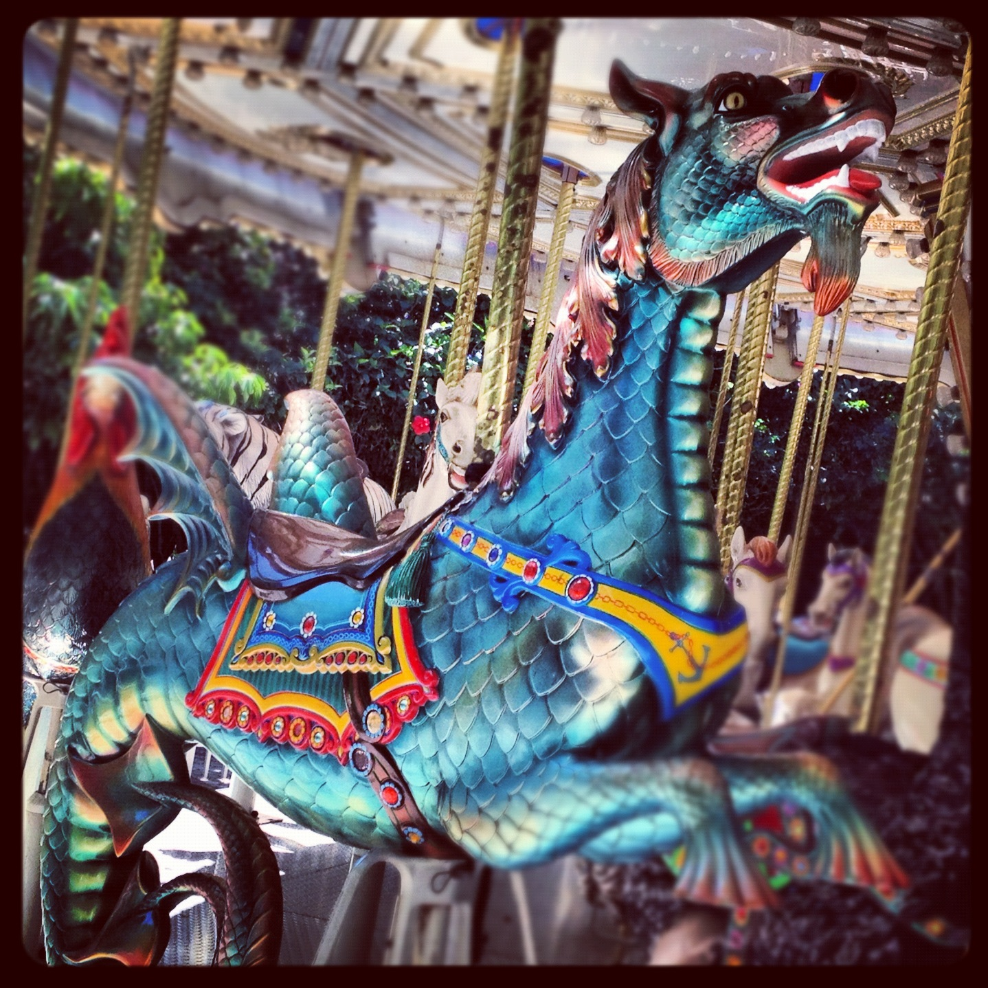 Sea Horse Dragon on the Carousel