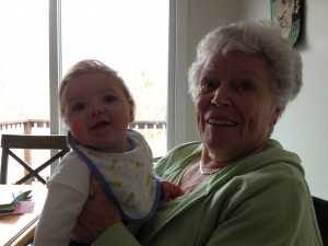 Andrew with Great Grandma