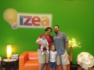Family visit to IZEA