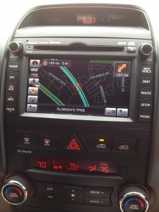 The Kia Sorento EX Navigation system