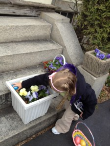 Eva Searching for Eggs