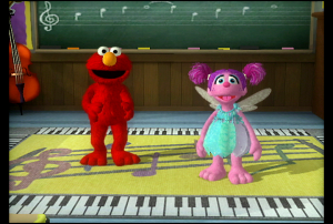 Elmo and Abby in Elmo's Musical Monsterpiece