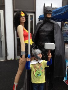 The Mighty Torunn with Wonder Woman and Batman!