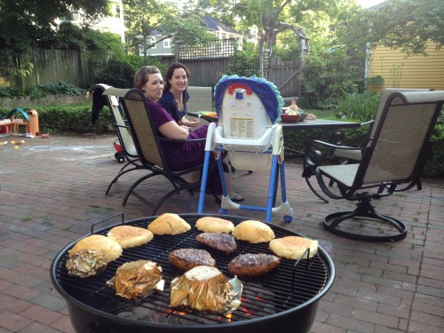 Grilling up a storm, there are going to be many more nights of this in this Patio Set.