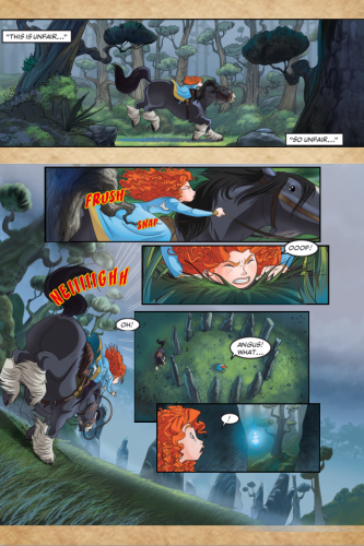 A page from the Brave Interactive Comic Book