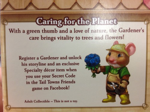 A Description of George the Gardener Tail Towns Friends Figurine