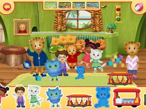 Adding Stickers to Daniel Tiger's App