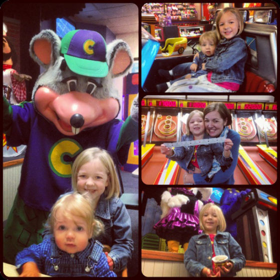 A Chuck E Cheese Birthday