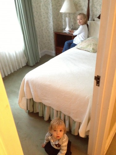 Eva's room at the Roger Smith Hotel.