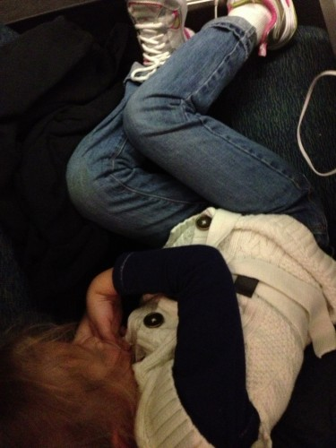Eva passed out on the train