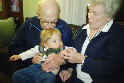 Andrew with his Great-Grandparents