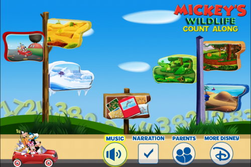Mickey Mouse Clubhouse: Mickey's Wildlife Count Alon