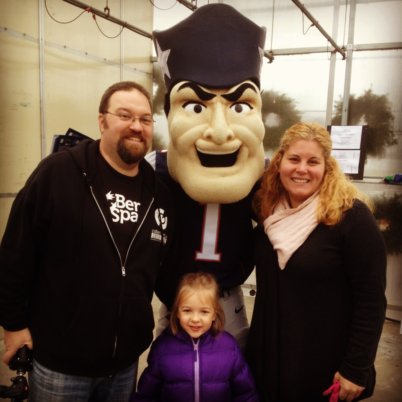 Eva and I with Pat the Patriot and Sarah Achin