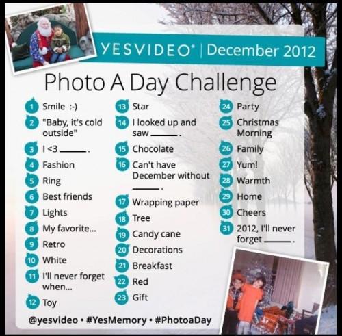 YesVideo December Challenge