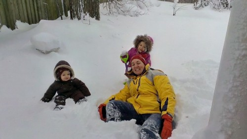 Allison and the Kids in the Snow