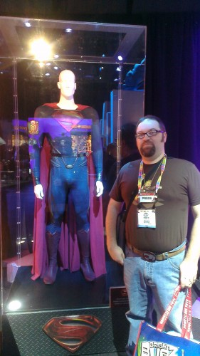 With the Man of Steel Costume