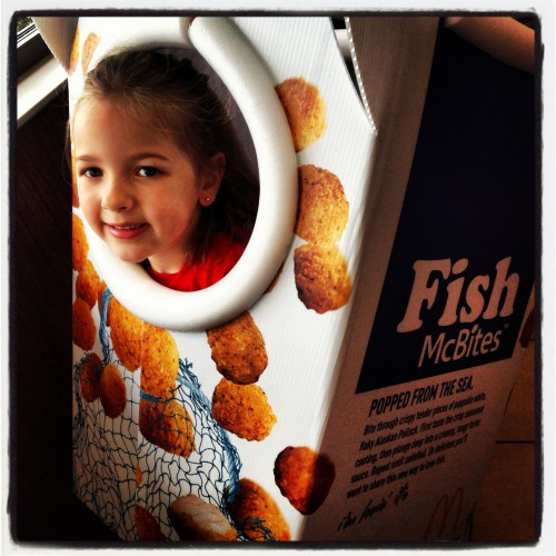 Playing in the Fish McBites Box