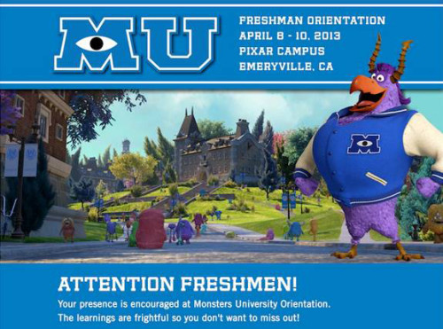 Monsters University Acceptance Letter