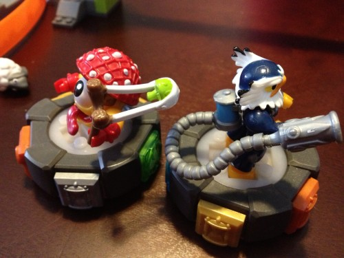 MEGA Bloks Skylanders Giants Figures ShroomBoom and Jet-Vac