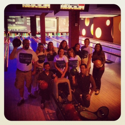 The YesVideo Bloggers Bowling Team