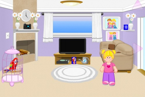Appventures Virtual Dollhouse Living Room