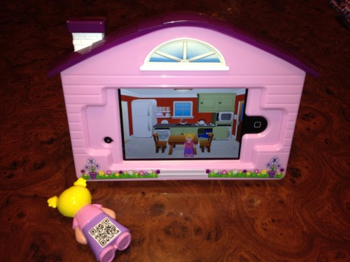 QR Code on Virtual Dollhouse doll.