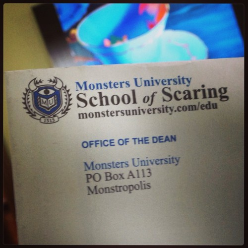 #MonstersUEvent Acceptance Letter