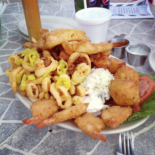 Seafood Platter at Evelyn's Drive In
