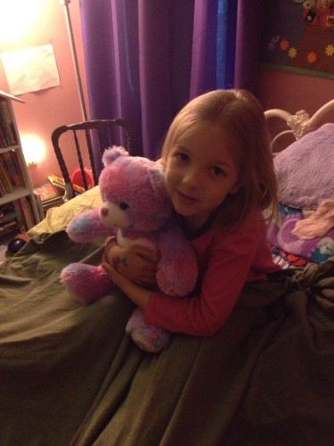 Eva's new Build-A-Bear friend