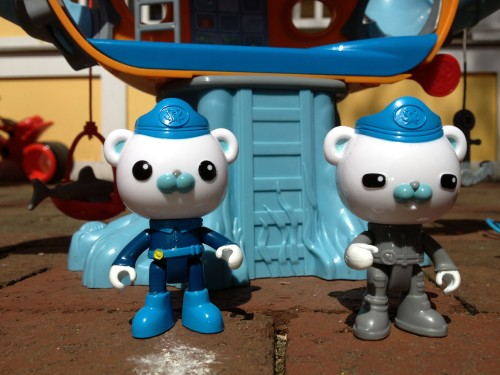Two Captain Barnacles figures