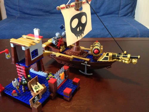 MEGA Bloks Skylanders Giants Crusher's Pirate Quest, Ship and Shanty