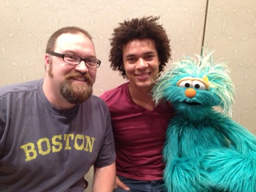 Me with Mando and Rosita from Sesame Street