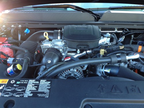 Under the hood of the GMC Sierra Denali