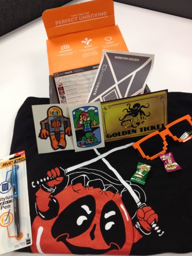 Loot Crate items from the MASHUP Crate
