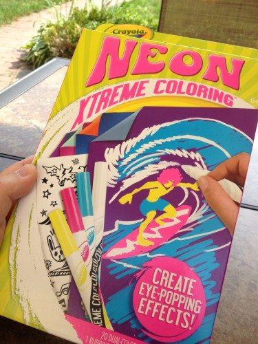 A Package of Crayola Neon Extreme Coloring