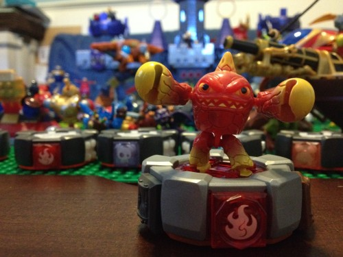 Eruptor on  his MEGA Blocks Battle Portal - Skylanders Giants