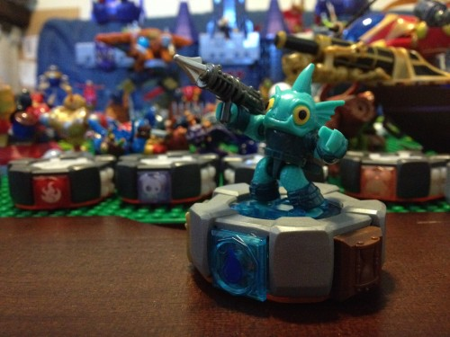 Gill Grunt on his MEGA Blocks Battle Portal - Skylanders Giants